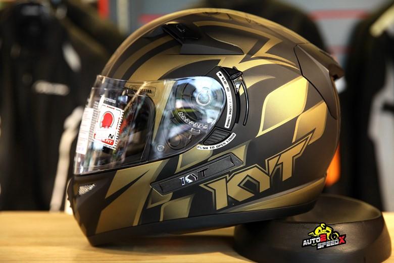 หมวกกันน็อค KYT VENOM World GP Gold