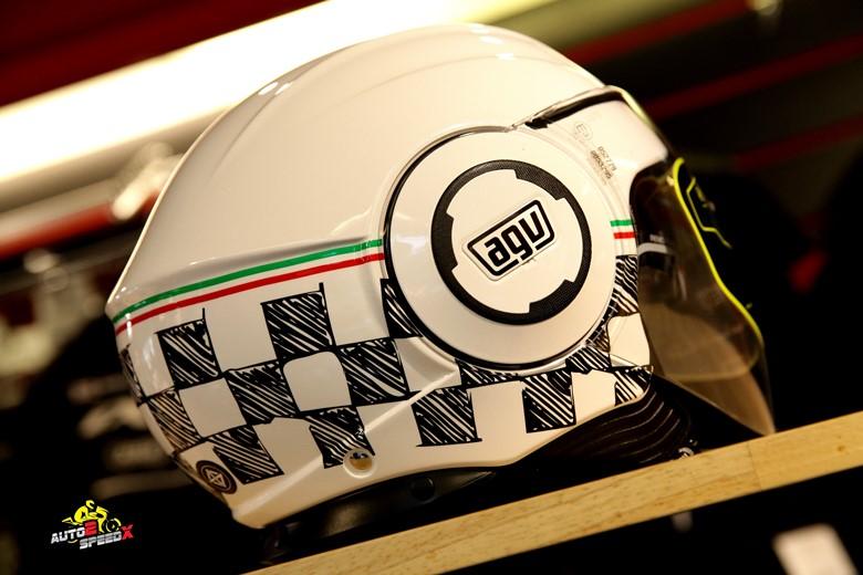 หมวกกันน็อค AGV FLUID GARDA WHITE ITALY