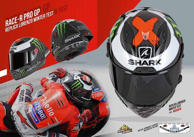 หมวกกันน็อค SHARK RACE R PRO GP LORENZO WINTER TEST