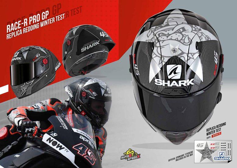 หมวกกันน็อค SHARK RACE R PRO GP REDDING WINTER TEST