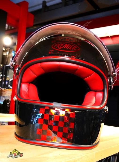 หมวกกันน็อค PREMIER TROPHY NX Red Chromed