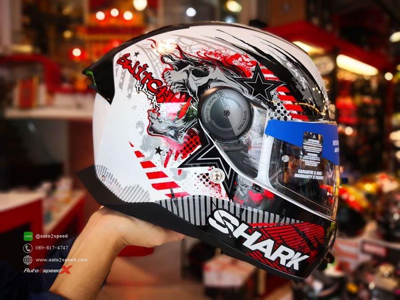 หมวกกันน็อค SHARK SKWAL2 Switch Rider1 WKR มีไฟกะพริบ