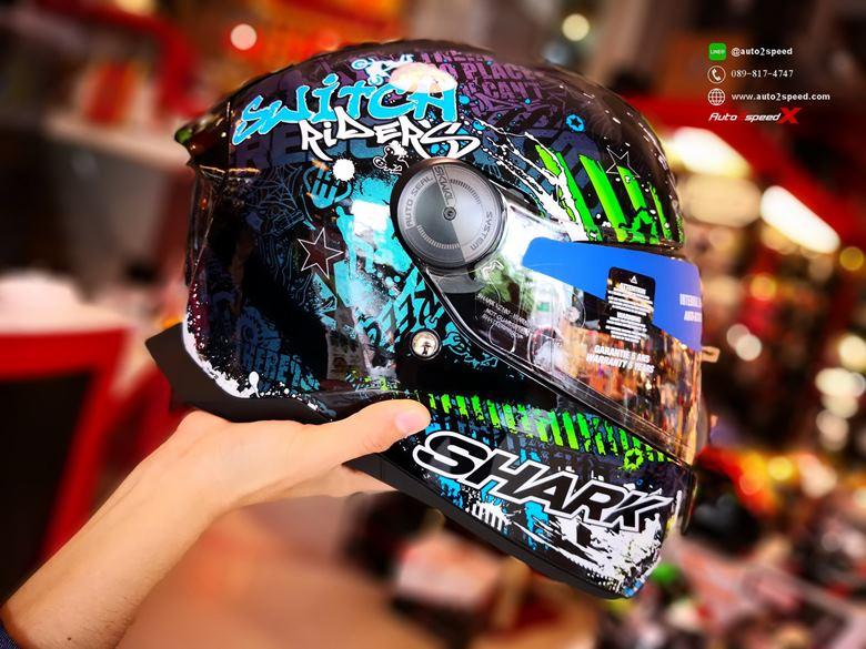 หมวกกันน็อค SHARK SKWAL2 Switch Rider2 KRG มีไฟกะพริบ