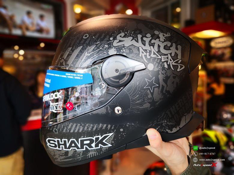 หมวกกันน็อค SHARK SKWAL2 Switch Rider2 KAS มีไฟกะพริบ