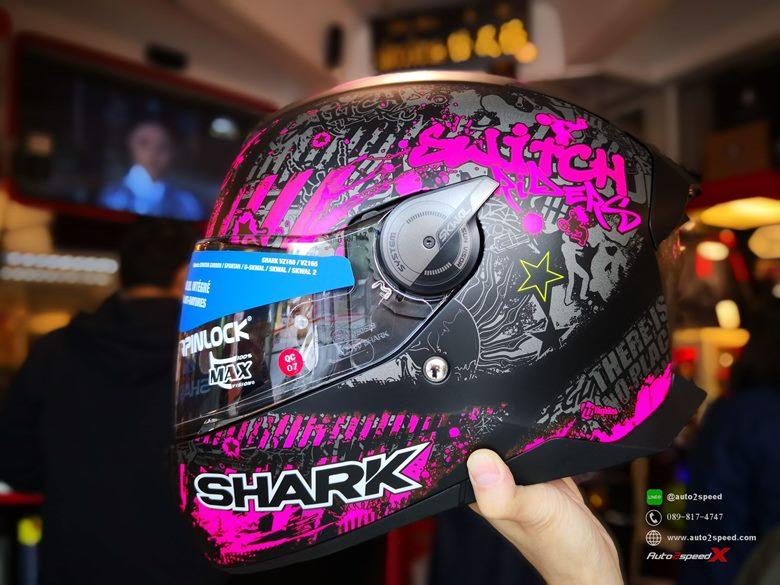หมวกกันน็อค SHARK SKWAL2 Switch Rider2 KVV มีไฟกะพริบ