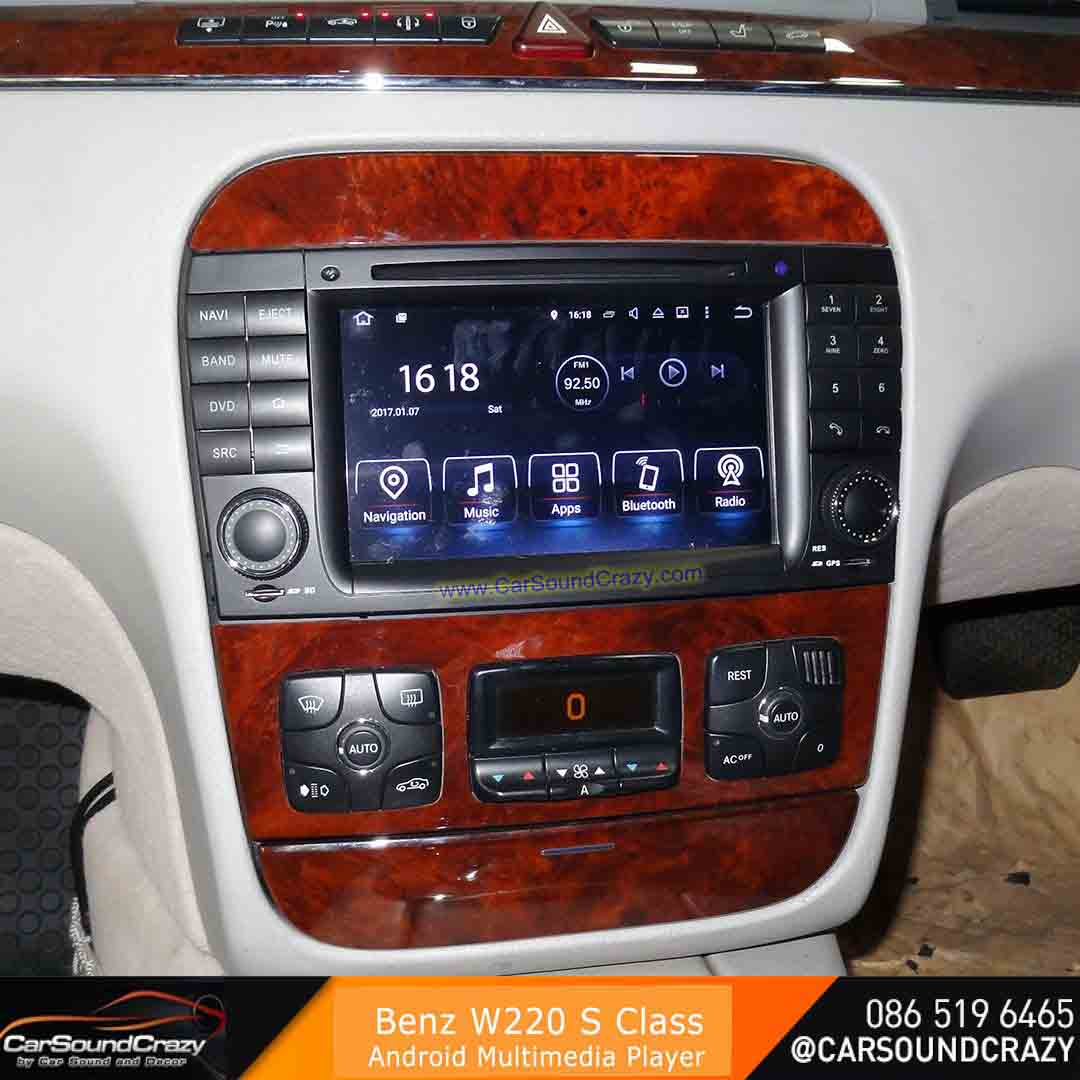 Benz W220 S Class (1998-2005) Android DVD GPS ตรงรุ่น