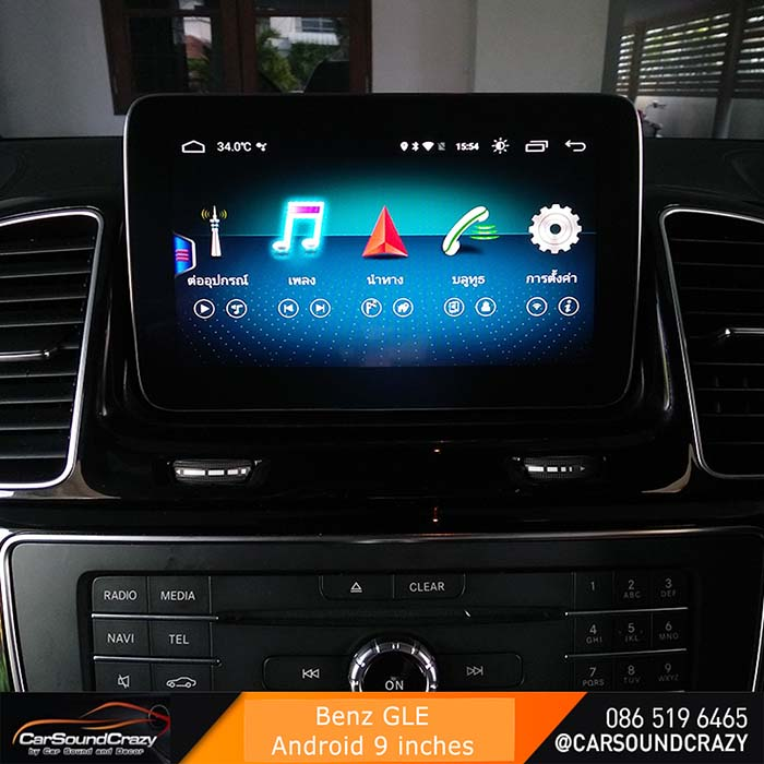 Benz GLE Android ตรงรุ่น multimedia Player จอ HD 9 นิ้ว 1