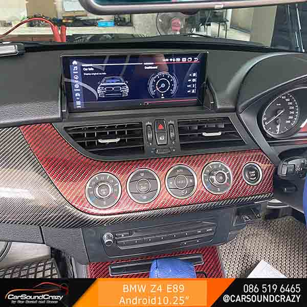 BMW E89 Z4 Android ตรงรุ่น 10.25 นิ้ว