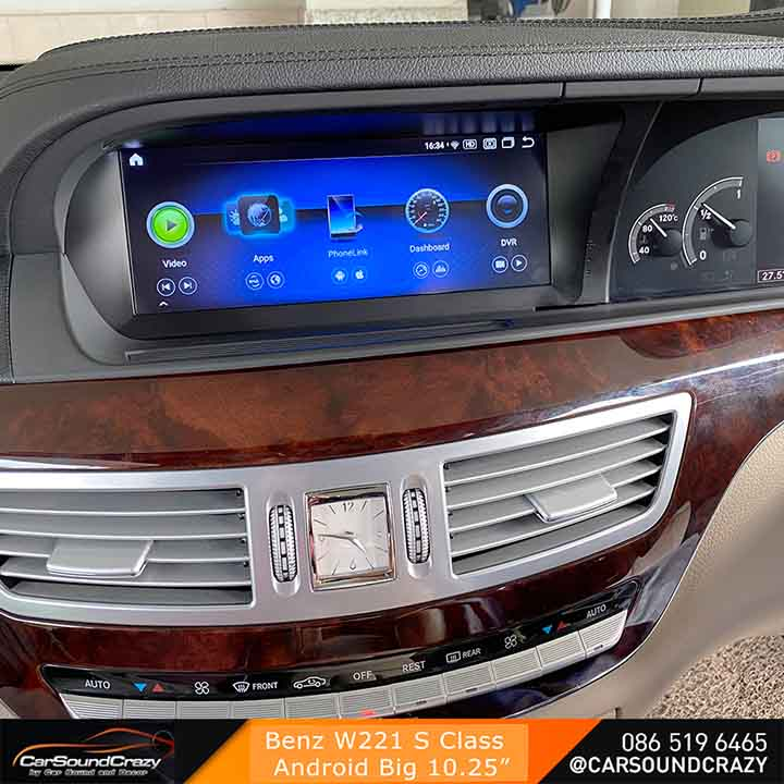 Benz S Class W221 Android ตรงรุ่น จอ HD 10.25 นิ้ว 1