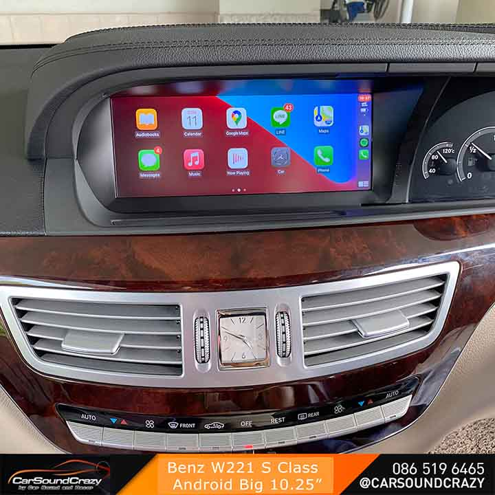 Benz S Class W221 Android ตรงรุ่น จอ HD 10.25 นิ้ว 2