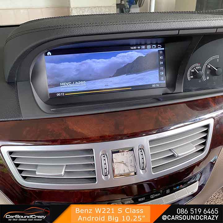 Benz S Class W221 Android ตรงรุ่น จอ HD 10.25 นิ้ว 3