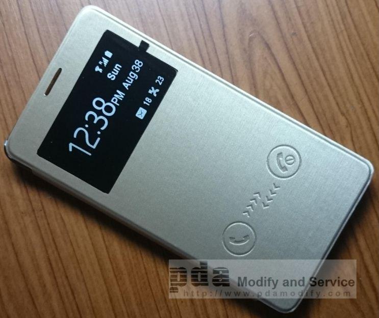 เคสแบบปิด-เปิด Samsung galaxy Note4 สีทอง