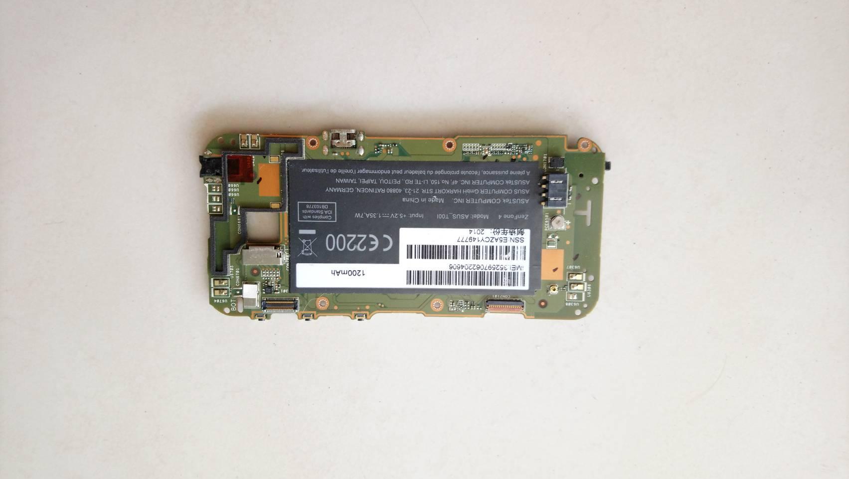 เมนบอร์ดเสีย Mainboard ASUS Zenfone4 T00i เปิดติดค้างโลโก้