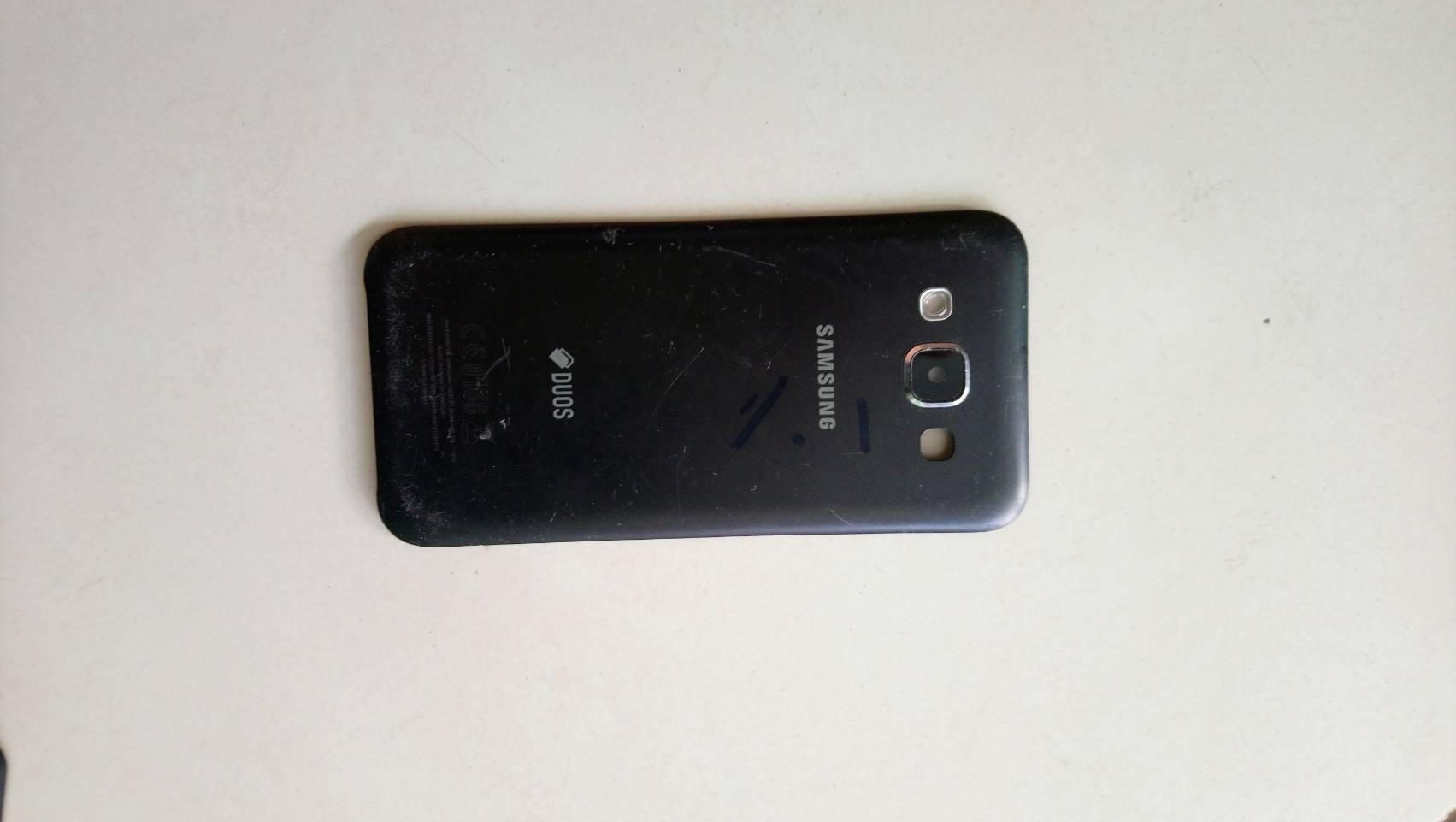 ฝาปิดหลัง Back cover Samsung E5 / E500H มือสองสีน้ำเงิน