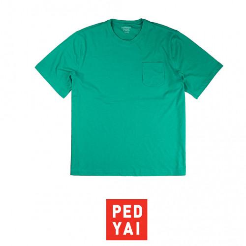 POCKET TEE คอกลมสีเขียว