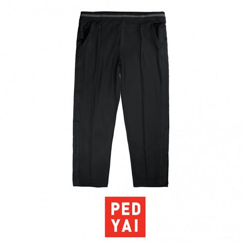 กางเกงวอมขายาว ดำแถบดำ