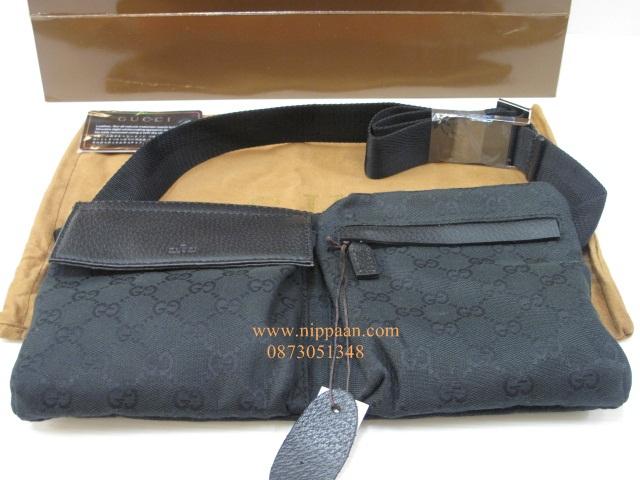 Gucci Belt bag mirror image 7 stars สีดำ สายสีดำงานเกรดดีที่สุดค่ะ