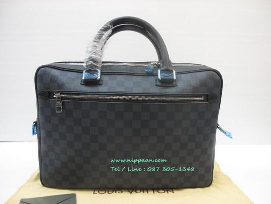 Louis Vuitton Porte Document Business in Damier Cobalt N41347 Top Mirror Image 7 stars