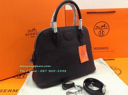 Hermes Bolide 31cm Togo Leather สีดำ Black Top Mirror Image 7 stars