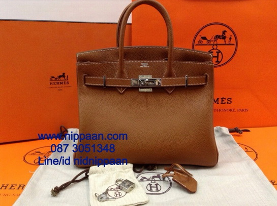 Hermes Birkins 30 SHW in Gold Togo leather with Silver hardware Top mirror image 7 stars