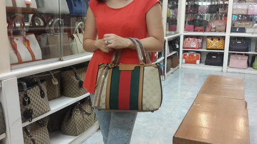 Gucci Rania Original GG canvas top handle bag Top mirror 7 stars