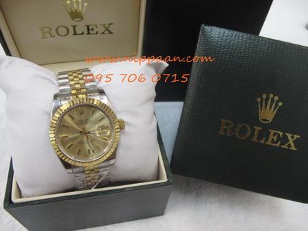 Rolex Oyster Perpetual Boy Datejust หน้าทอง เลขขีด สาย Jubilee 2K