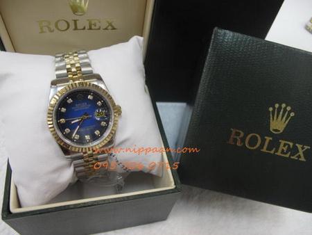 Rolex Boy Size 68273 หน้าปัดน้ำเงินทูโทนฝังเพชร 2K