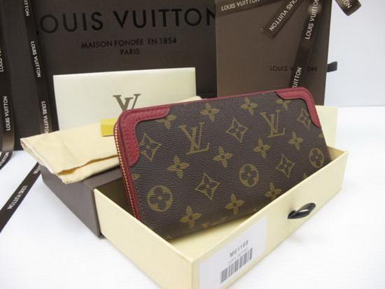 Louis Vuitton Monogram Canvas ZIPPY WALLET RETIRO Mirror Image 7 stars ขอบสีเเดง