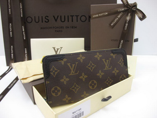 Louis Vuitton Monogram Canvas ZIPPY WALLET RETIRO Mirror Image 7 stars ขอบสีดำ
