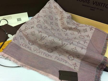 ผ้าพันคอ Louis Vuitton Monogram Rainbow Shawl Top Mirror Image สีกะปิ