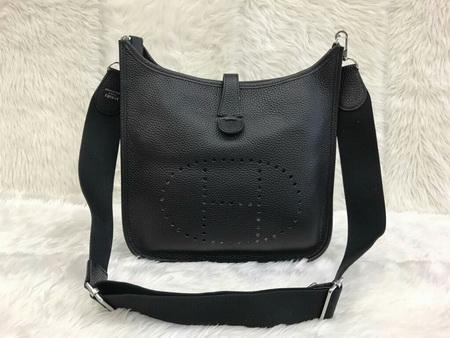 Hermes Evelyne III PM Bag สีดำ Togo leather Top mirror image 7 stars