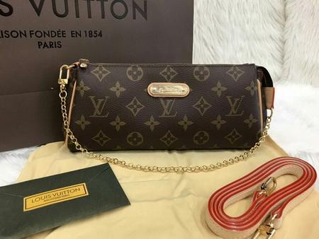 Louis Vuitton EVA CLUTCH M95567 in Monogram canvas Top Mirror Image 7 stars เกรด  Hi End