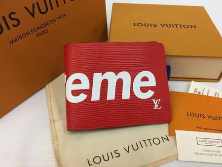 Louis Vuitton SUPREME PF SLENDER M67717 Mirror Image 7 stars Epi Leather