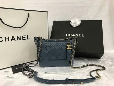 Chanel Small Gabrielle Hobo Bag in Blue หนังแกะแท้ค่ะ สีกรม