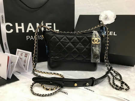 Chanel Small Gabrielle Hobo Bag in Black หนังแกะแท้ค่ะ สีดำ