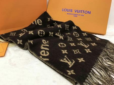 Louis Vuitton Supreme X Scarf  Brown Monogram  Top Mirror Image 7 stars