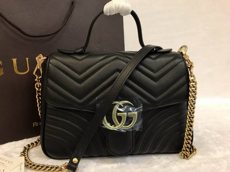 Gucci GG Marmont small top handle bag Top mirror 7 stars