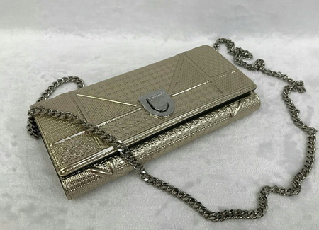 Dior Mini Diorama Bag in Gold Methalic