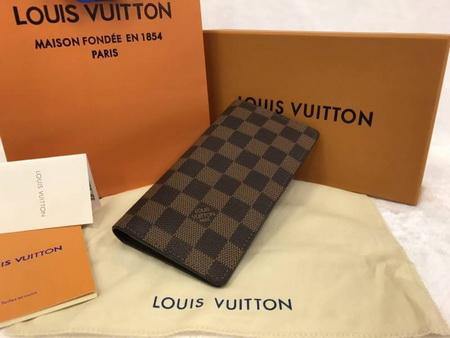 Louis Vuitton Porte Valeurs  in Damier canvas Wallet