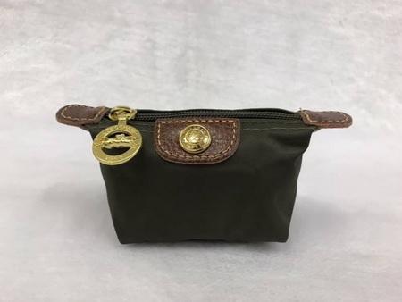 กระเป๋าใส่เหรียญ Longchamp \'Le Pliage\' Coin Purse สีเขียวขี้ม้า