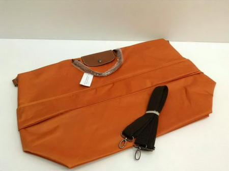 Longchamp LE PLIAGE TRAVEL BAG Top Mirror Image กระเป๋าเดินทาง สีส้ม