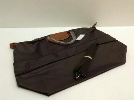 Longchamp Le Pliage Top Mirror Image กระเป๋าเดินทาง สีน้ำตาลชอคโกแลต