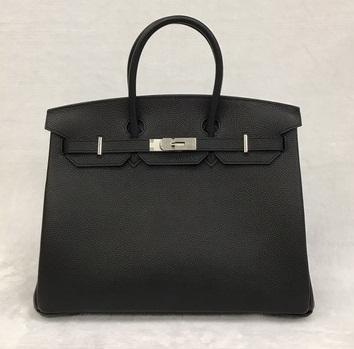 Hermes Birkins 35 SHW in Black สีดำอะไหล่เงิน Togo leather