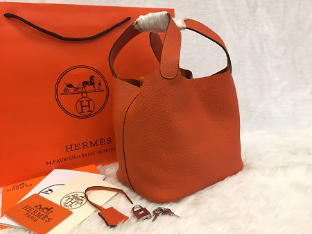 Hermes Picotin Lock Bag PM สีส้ม 18 CM