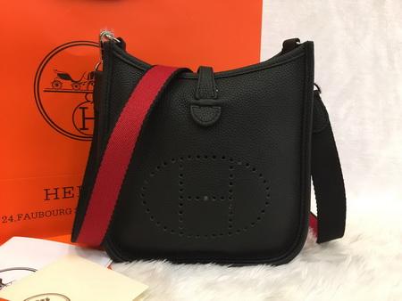 Mini Hermès Evelyne TPM Bag in Black