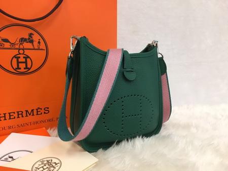 Mini Hermès Evelyne TPM Bag สีเขียว