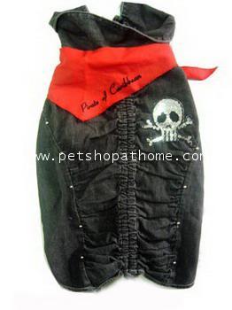 เสื้อผ้า Black Denim Pirate