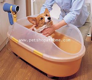 อ่างอาบน้ำสำหรับสัตว์เลี้ยง มี 2 สีค่ะ
