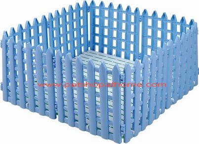 คอกรั้วพลาสติก 10 ชิ้น มีสีฟ้า และชมพูค่ะ (กว้าง 38 ซม. สูง 43 ซม.)