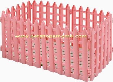คอกรั้วพลาสติก 8 ชิ้น มีสีชมพู และสีฟ้าค่ะ (กว้าง 38 ซม. สูง 66 ซม.)
